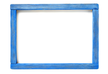 blue wood frame