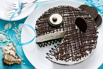 Funny fish cake for kids party