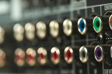 Audio connector panel
