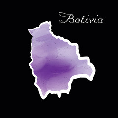 the Bolivia map w