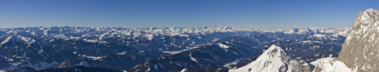 View toward the southwest from Mt. Dachstein, Styria, Austria, Europe