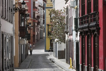 Calle Anselmo Perez de Brito, historic town of Santa Cruz de la Palma, La Palma, Canary Islands, Spain, Europe