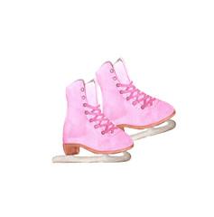 Pink figure skates.