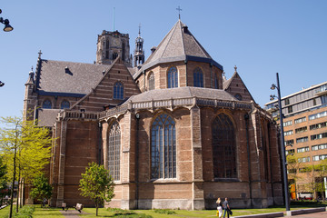 The Church of St. Lawrence (Grote of Sint-Laurenskerk, 1449-1525) is a Protestant Church in the center of Rotterdam. It is the only remnant of a medieval city .