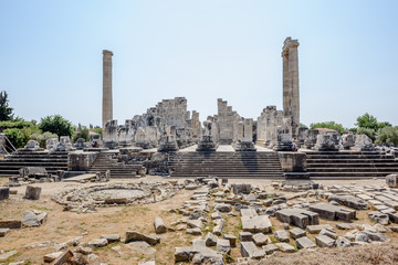 Apollo Temple at Didyma in Didim,Aydin,Turkey.