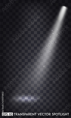 White Transparent Vector Spot Lights Spotlights Effect For Party