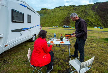 Camp in Southern Iceland