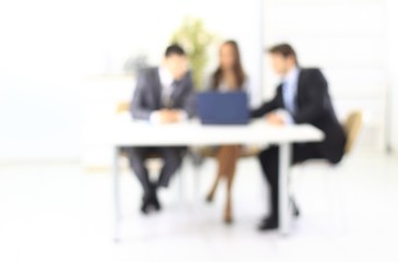business background. blurred image of business team