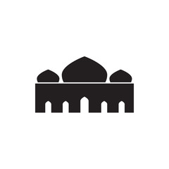 Triple Dome Silhouette Mosque Vector Illustration Graphic Design