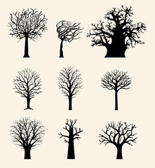 Vector set of various trees