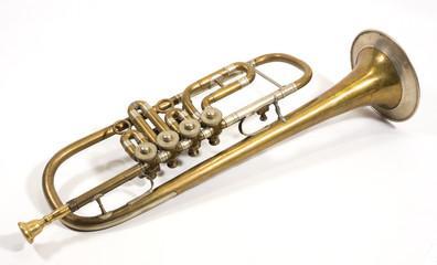 schöne alte antike trompete