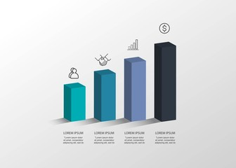 Presentation creative concept. Volume 3D infographic. Vector illustration.