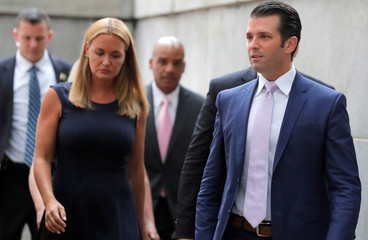 Donald Trump Jr. and his wife Vanessa arrive at State Supreme Court for divorce hearing in New York