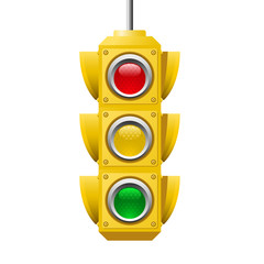 American Traffic lights icon - crossroads semaphore