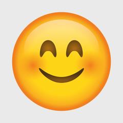 Cute smiling emoji