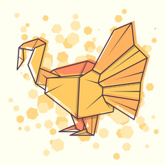 Vector abstract illustration turkey.