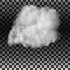 The smoke or fog on an isolated transparent background. Special effect. White cloudy vector, vector illustration.