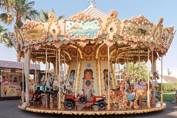 Old carousel - Cavalaire sur Mer - France