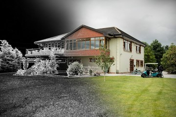 Composite image of home sketch