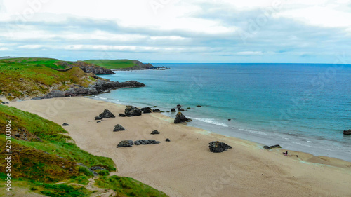 Famous Beach In Scotland Sango Sands At Durness Aerial View