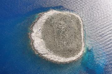 Zabodarski Island Panorama, Croatia, aerial view