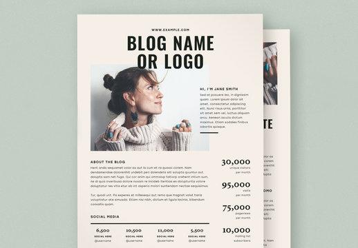 Blog Media Kit Layout