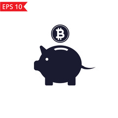 Piggybank bitcoin icon