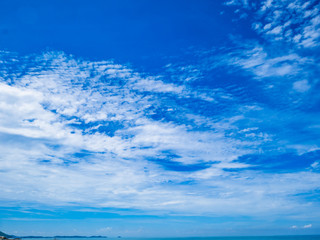 Beautiful sky on the ocean with endless horizon in vacation time,Holiday,Summer concept