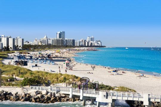 View at Miami South beach. South pointe pier