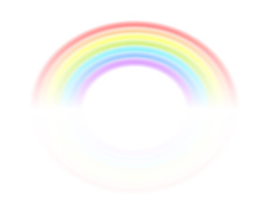 Rainbow isolated on a white background. Vector illustration for your design. The symbol of the ended rain.