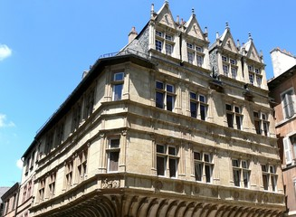 Renaissance house in Rodez, Aveyron, France