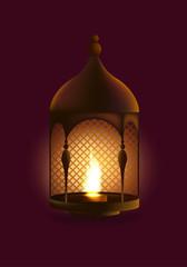 Eid al adha illustration with realistic lamp . Vector illustration design.