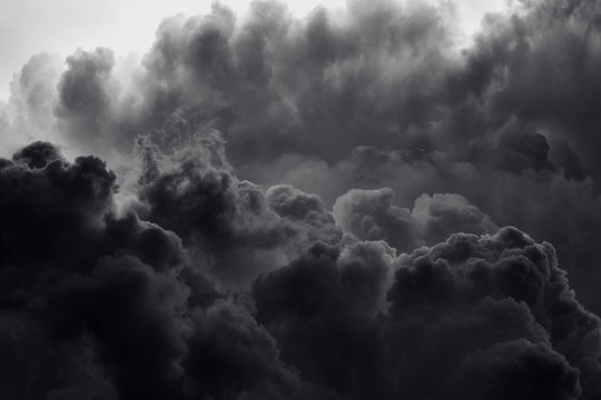 Dramatic black smoke from a fire
