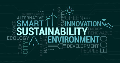 Environment, smart cities and sustainability tag cloud