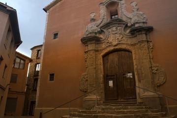 Entrada de la iglesia de la Pobla de Lillet