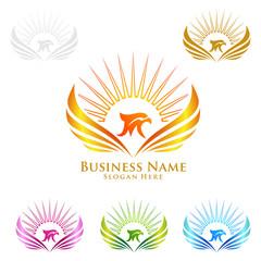 Eagle Logo, vector Wild eagle Bird Falcon Hawk Concept