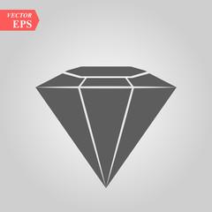 Diamond vector icon, flat design best vector icon