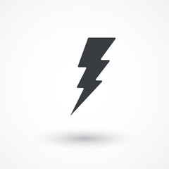 Flash icon. Bolt of lightning. Lightning illustration. Streak of lightning sign. Electric bolt flash icon. Lightning design element. Thunder strike logo. Charge flash icon. Thunderbolt icon