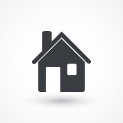 Retro style house icon isolated