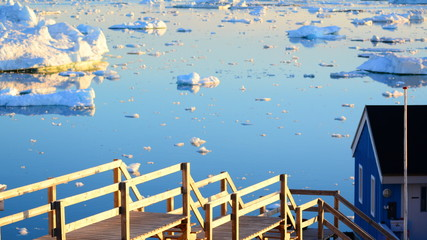 Poster Arctic Ilulissat. Greenland