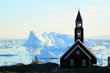 Poster Arctic Church in Greenland