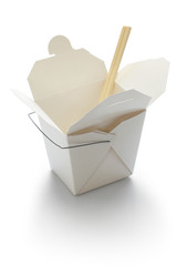 chinese take out box isolated on white background
