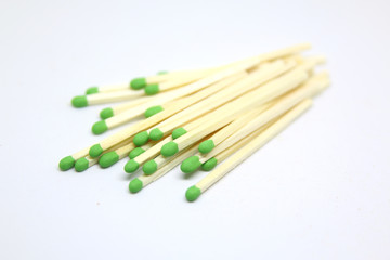 group of green head matches