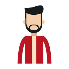 Young man avatar with beard and casual clothes vector illustration graphic design