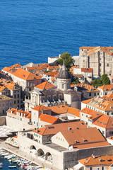 Croatia, Dubrovnik, Aerial view of St Blaise church