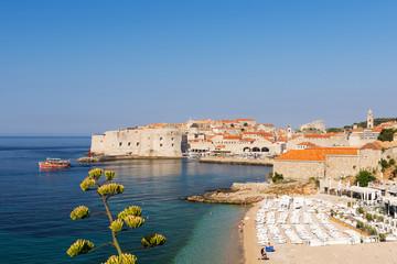 Croatia, Dubrovnik, Morning over Banya Beech