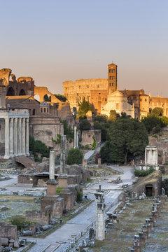 Italy, Latium, Lazio. Rome, Roma. The Roman Forum.
