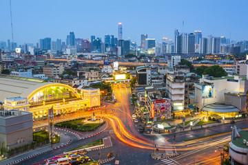 Hua Lamphong Train Station, Pathum Wan, Bangkok, Thailand. Fotomurales