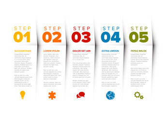Colorful 5 Step Infographic Layout