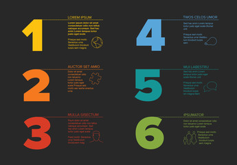 Colorful 6 Step Infographic Layout